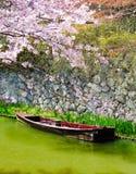 Small boat, Hachiman-Bori, Omi-Hachiman, Japan Stock Photo
