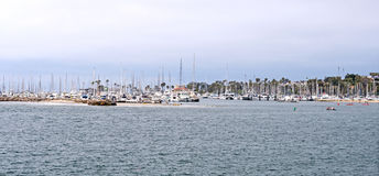 Small Boat Harbor on the coast Royalty Free Stock Photos