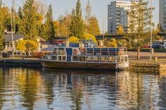 Small boat harbor Stock Image