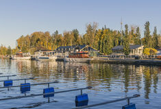 Small boat harbor Royalty Free Stock Images
