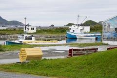 Small boat harbor in Newfoundland Royalty Free Stock Photos