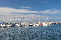 Small boat harbor Royalty Free Stock Photos