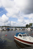 Small boat harbor Stock Image
