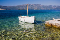 Small boat in harbour Royalty Free Stock Photography