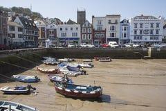Small boat harbour in Dartmouth Devon UK Stock Photo