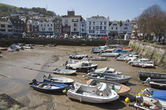 Small boat harbour in Dartmouth Devon UK Royalty Free Stock Photography