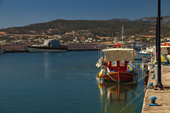 Small boat harbour Stock Image