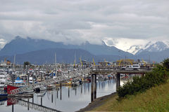 Small Boat harbour. Photo of small boat harbor in Homer, Ak royalty free stock image