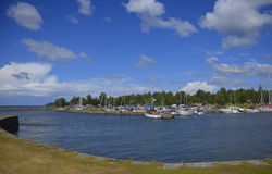 Small Boat Harbour Sjötorp, Sweden Stock Photo