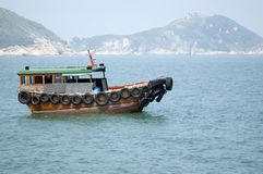 Small boat in Hongkong Stock Photos