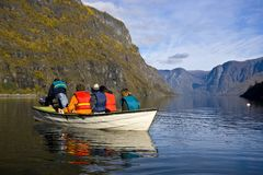 Small Boat In The Lake Stock Photography