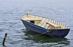 Small boat in the lake Royalty Free Stock Photography