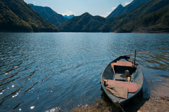 Small Boat on the lake Stock Photos