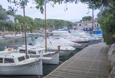 Small boat marina Cala Figuera Stock Image