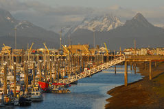 Small Boat Marina, Homer Spit, Alaska Stock Photos