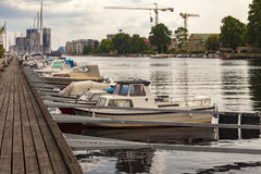 Small boat marina Royalty Free Stock Photo