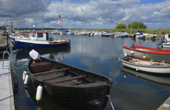 Small boat moorings in Kivik, Sweden Royalty Free Stock Photography