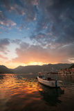 Small boat n Perast. Bay of Kotor, Montenegro Stock Photography