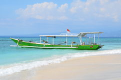 Small boat in the ocean Royalty Free Stock Photography