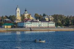 Town of Myshkin on the Volga River, Russia royalty free stock photography