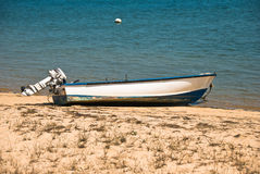 Beached Boat Stock Image