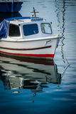 Small boat in Penzance harbour Royalty Free Stock Photo