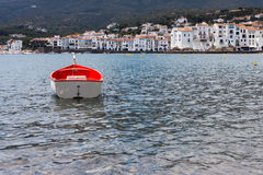 Small boat at port Cadaques in Spain Royalty Free Stock Photography
