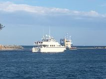 small boat ready for your departure royalty free stock photos