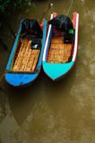 Small boat in river Royalty Free Stock Photos