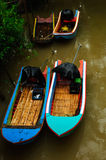 Small boat in river Stock Photography