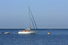 Small boat in the sea Royalty Free Stock Photo