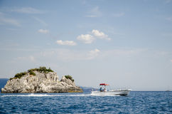 Small boat on the sea Royalty Free Stock Image