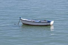 Small boat in the sea Royalty Free Stock Image
