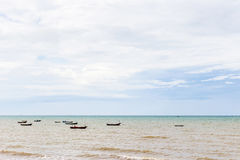 Small boat. In the sea and sky Stock Photo
