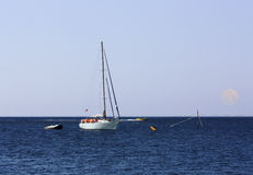 Small boat in the sea Royalty Free Stock Images