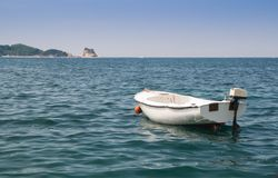 Small boat on sea Stock Photography