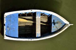 Small boat seen from above Royalty Free Stock Image