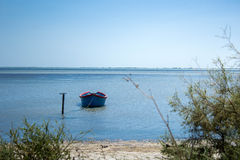 Small boat on the shore Royalty Free Stock Photography