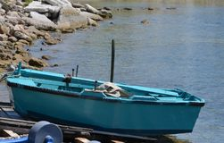 Small Boat on Skiathos Stock Image