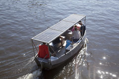 Small boat on solar energy Stock Photography