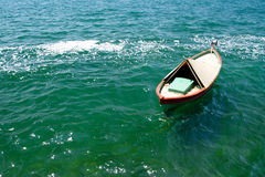 Small boat on the water Royalty Free Stock Images