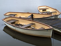 Small boats stock photo