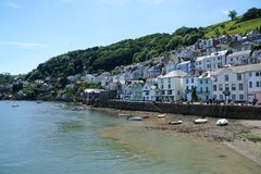 Small Boats on Beach, Dartmouth, Devon royalty free stock images