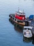 Small Boats in Calm Harbor near Boston Royalty Free Stock Photos
