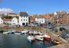 Small boats Crail Harbour, Crail, Fife, Scotland Stock Photos