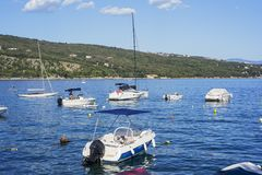 Small boats and cutters in Croatia royalty free stock photo
