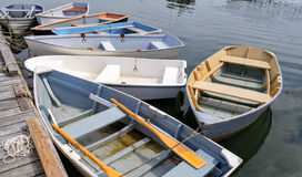 Small Boats at a Dock Stock Images