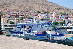 Small boats, Emborio Stock Photos