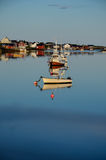 Small boats in the evening light Royalty Free Stock Photo