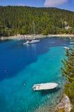 Small Boats in foki fiskardo beach, Kefalonia,  Greece Stock Photos